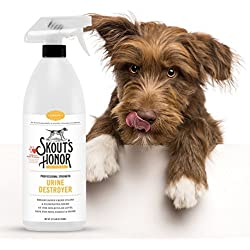 Skout's Honor Professional Strength, All-Natural Dog Urine Destroyer - Non-Toxic, Biodegradable, and Eco-Friendly - Odor Eliminating Technology Destroys Odor Molecules On Contact - 32-OZ Spray Bottle