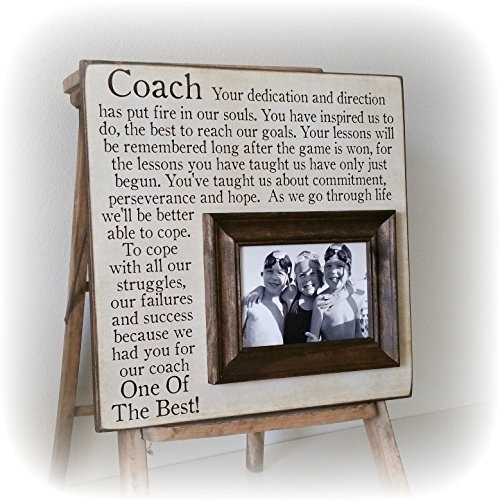 End of the Season Coach Gift, Personalized Gift for Coach, Coach Frame 16x16 The Sugared Plums Frames by The Sugared Plums