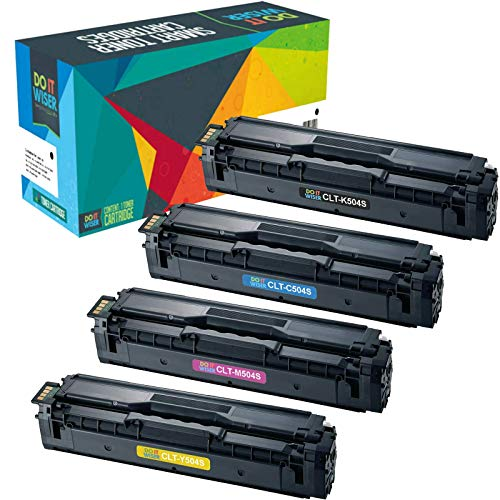 (Do it Wiser Compatible CLT-504S Toner Cartridge for Samsung Xpress SL-C1860FW SL-C1810W C1810 C1860 CLX-4195FW CLP-415NW CLX-4195 CLX-4195N - CLT-K504S CLT-M504S CLT-C504S CLT-Y504S - 4 Pack)