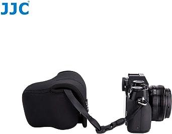 Jjc Oc F1bk Kameratasche Aus Neopren Für Spiegellose Kameras Von Sony Canon Olympus Fujifilm Samsung Panasonic Etc Schwarz Passend Für Kameras Mit Objektivgrößen Bis 127 X 85 X 84 Mm Elektronik