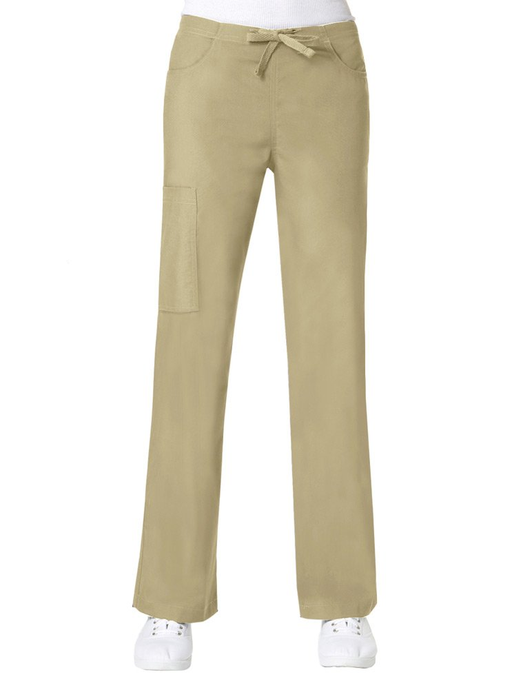 Core By Maevn Women's Boot Cut Cargo Scrub Pant X-Small Khaki