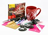#7: Permanent Paint Markers by Montico - Acrylic Marker Craft Paint Pens for Rocks, Wood, Metal, Ceramic, Glass, Canvas, Fabric Painting; Great Choice for Mug Customizing & DIY Project - Medium Tip