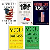 img - for Fifth risk [hardcover], the undoing project, flash boys, you are a badass, making money 5 books collection set book / textbook / text book