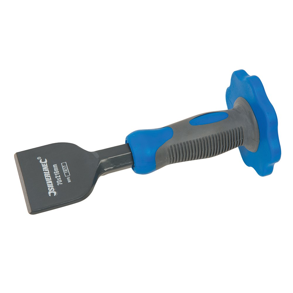 S/&R Cincel Alba/ñil Pala 76 x 216 mm con Protector Mano Cortafrio para Azulejos H/órmig/ón HRC 52-58 Piedra Baldosas