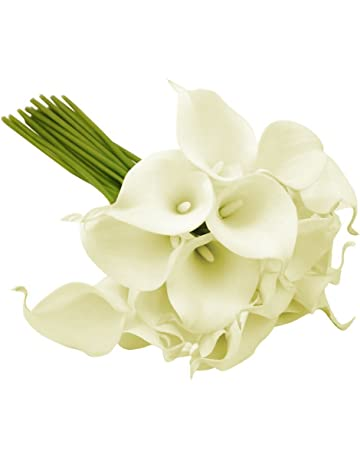 10 stems of ivory real touch artificial calla lilies e4fd225b0c