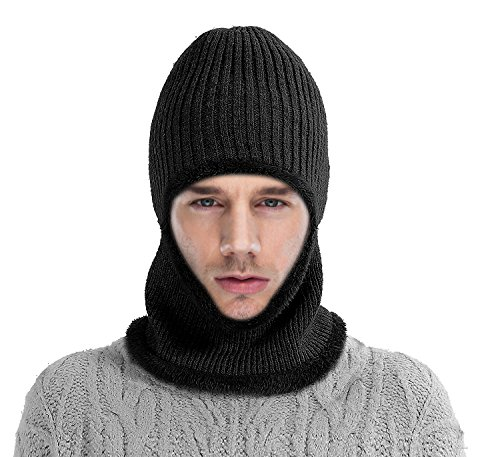 MATDOM Kint Winter Hats, 3-in-1 Cold Weather Beanie with Flexible Neck Guard,Riding Hat for Outdoor Sports Cycling Motorcycle Ski