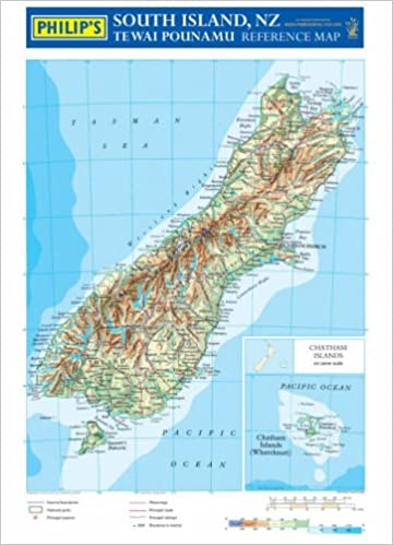 Buy Philips Reference Map New Zealand South Island Physical - New zealand physical map
