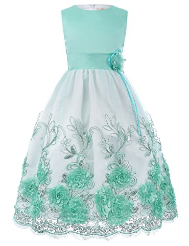 Juniors' Lace Slim Dress for Party Cocktail Green 11-12 Years
