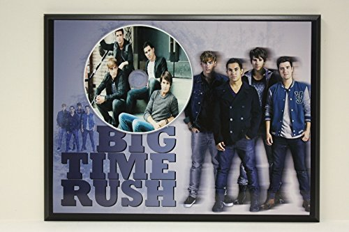 BIG TIME RUSH PICTURE CD LTD EDITION PLAQUE FREE FAST U.S. PRIORITY - Times Priority Shipping