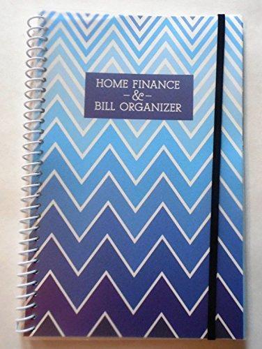 Home Finance & Bill Organizer with Pockets (Blue Zig Zag) by GenCorp