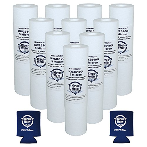 Pentek Watts Heraldry gurges GE Liquatec Culligan Compatible Filter, KleenWater KW2510G Replacement Filters for GE GXWH04F GXWH20F GXWH20S GXRM10 Water Filtration Systems, Set of 10