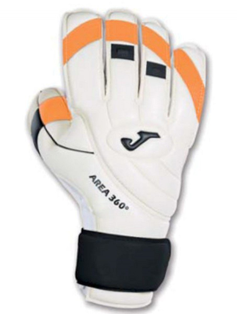 Joma Area 360º Weiß-ORANGE Fluor Goalkeeper Gloves 7