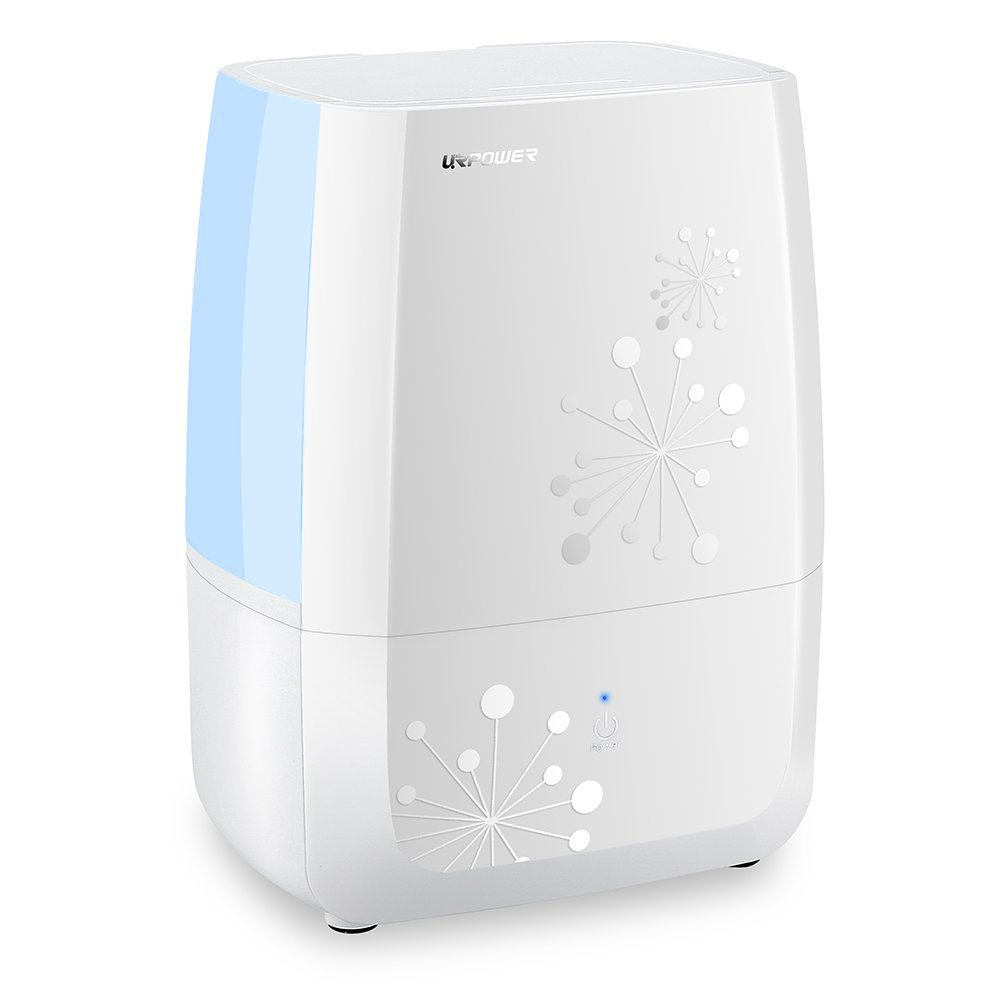 URPOWER MH501 Humidifier, 5L Large Capacity Whisper-Quiet Operation Cool Mist Ultrasonic Humidifier Waterless Auto Shut-Off with Adjustable Mist Mode for Home Bedroom Babyroom Office MH-501