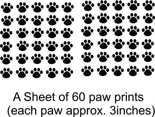 Top Selling Decals - Prices Reduced : Cat Kitten Puppy Dog Pet Leopard Cheetah Wild Animal Paw Print Wall Sticker Size: 21 Inches X 31 Inches – 22 Colors Available ()
