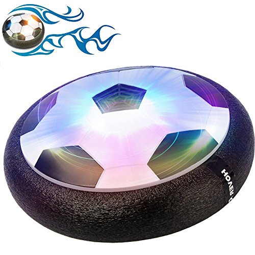 Gloween Ball Toys for Kids, Air Disc,Hover Soccer Football with Powerful LED Light and Foam Bumpers for Indoor (Gifts For 7 Year Old Boys)