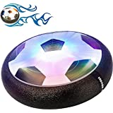 Gloween Ball Toys for Kids, Air Disc,Hover Soccer Football with Powerful LED Light and Foam Bumpers for Indoor Games