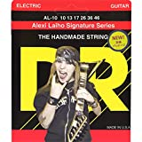 DR Strings Electric Guitar Nickel Plated Round Core with Stringlife, .010 - .046, AL-10