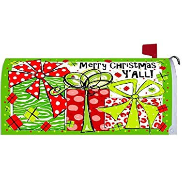 Merry Christmas Y'all Gifts 1732MM Magnetic Mailbox Cover Wrap