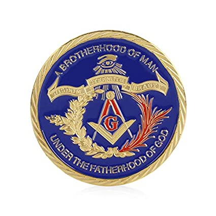 Non-currency Coins - Gold Plated Masonic Brotherhood Of Man