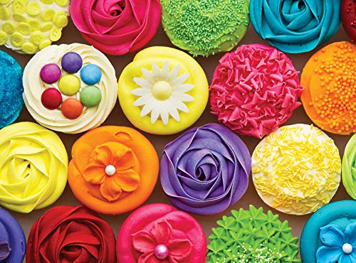 Colorcraft 1000 Piece Jigsaw Puzzle, Cool Cupcakes