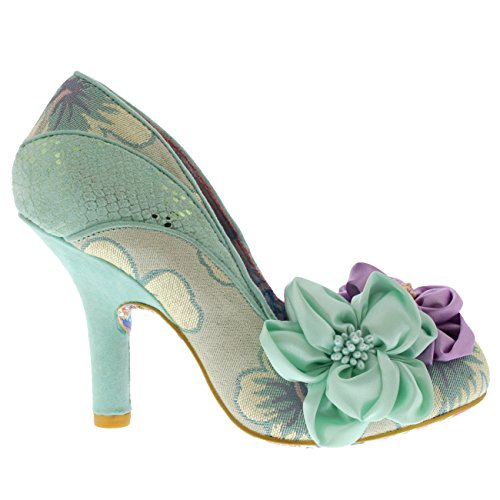 Melba mint Choice Irregular Green Fermé Femme Escarpins Peach Floral Bout vBwqE