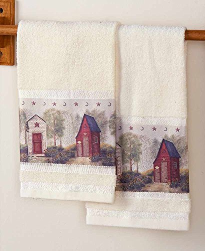 Towel Hand Outhouses - The Lakeside Collection Set of 2 Outhouse Hand Towels