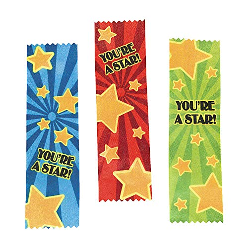 12 ~ Satin You're a Star! Award Ribbons ~ Approx. 7