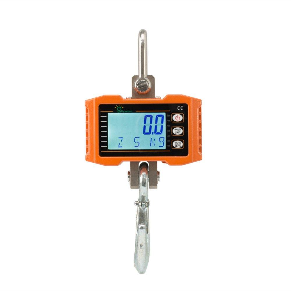 Hyindoor 1000KG Patalla LED Inteligente Bá scula Electró nica Digital Crane Escala Industrial con Gancho Resistente
