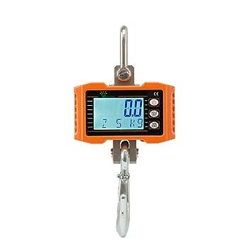 Hyindoor 500 kg Báscula Digital Industrial con Gancho Resistente Escala de Grúa Electrónica: Amazon.es: Bricolaje y herramientas