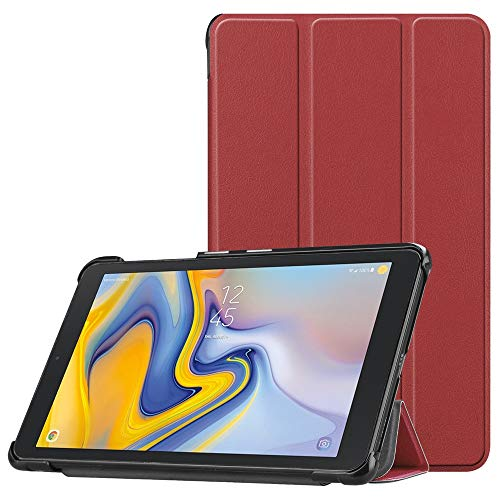 Cywulin Case for Samsung Galaxy Tab A 8.0 2018, Slim Folio Cover Smart Trifold Leather Shell Stand Lightweight for Galaxy Tab A 8 Inch 2018 Release Tablet SM-T387 Verizon Sprint T-Mobile AT&T (Wine)