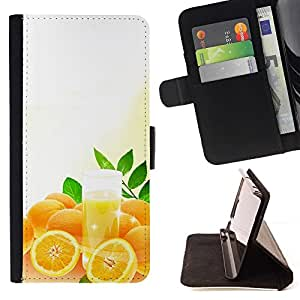 Momo Phone Case / Flip Funda de Cuero Case Cover - Zumo de naranja fresco - Samsung Galaxy S5 Mini, SM-G800
