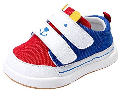 La Vogue Bebes Unisex Zapatos de Deportivo Primavera Rojo Blanco Azul