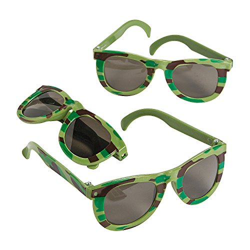 Fun Express - Camo/Army Sunglasses - Apparel Accessories - Eyewear - Sunglasses - 12 Pieces ()