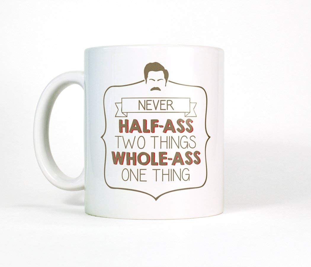 Taza de café divertida de la cita de motivación del ron ron ...