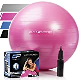 Exercise Ball - 2,000 lbs Stability Ball - Professional Grade – Anti Burst Exercise Equipment for Home, Balance, Gym, Core Strength, Yoga, Fitness, Desk Chairs (Pink, 55 Centimeters)