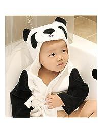Highdas 2016 Baby Bathrobe Bath Towel Infant Cotton Blankets Coated Nightgown 0-3years Sunflower (Panda)