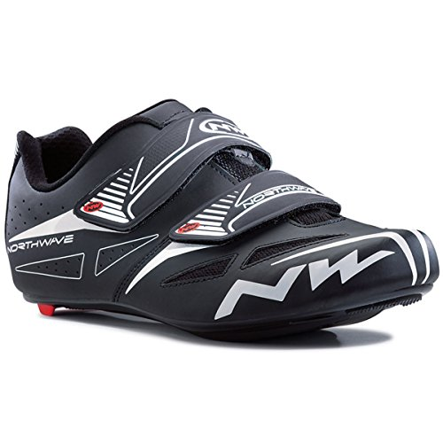 Northwave Mens Jet Evo Road Cycling Shoe - 80151010-10 (Black - 43.5) by Northwave