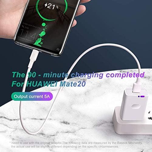AICase 5a Câble USB C Fast Charge Câble USB Type C Compatible avec Huawei Mate 9,MacBook,Galaxy S9/S8 et Plus (1M)