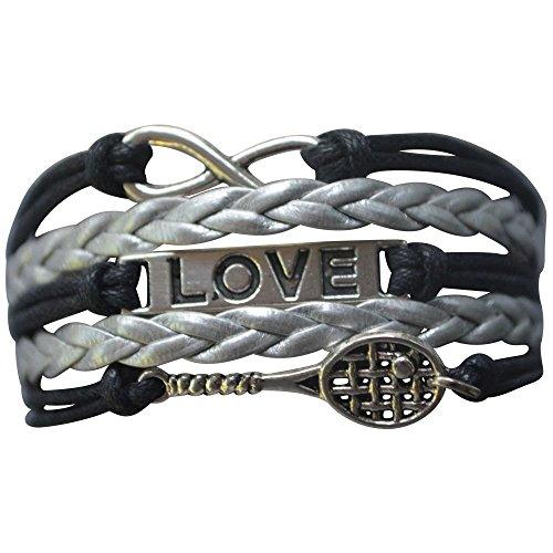 Infinity Collection Girls Tennis Bracelet- Girls Tennis Racket Charm Bracelet- Tennis Jewelry for Tennis Players from Infinity Collection