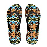 Unisex War Eagle Totem Summer Flip Flops Beach Slippers Jandal