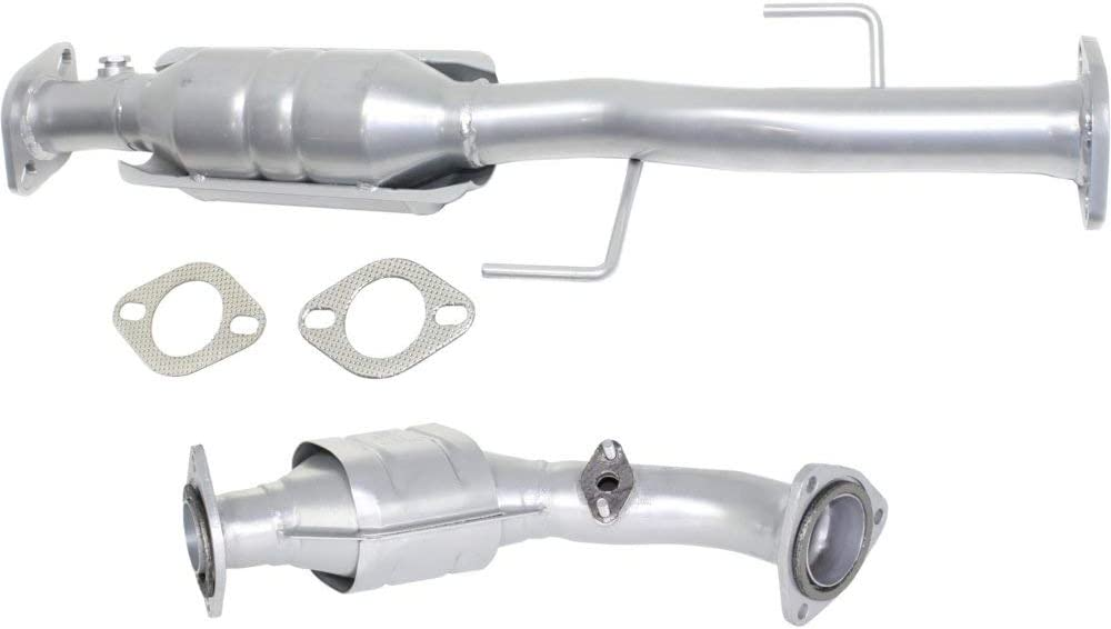 Catalytic Converter compatible with Toyota 4Runner 2001-2002 Set of 2 Rear Downstream 1 Sensor Port