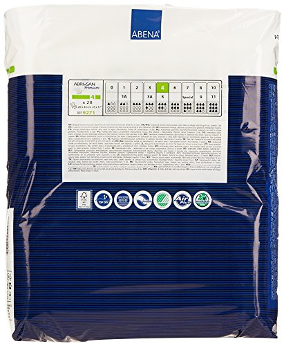 Amazon.com: Abena Abri-San Premium Incontinence Pads, Size 4 - Normal, 168 Count (6 Packs of 28): Health & Personal Care