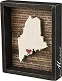 Maine State Shape Box Sign Primitives by Kathy