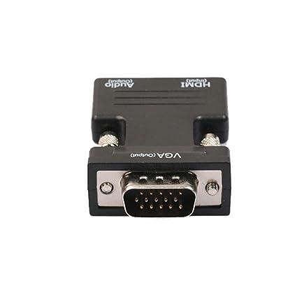 Amazon.com: Cable adaptador HDMI VGA con audio HD, 1080P ...