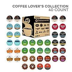 K Cup Coffee Lover's Variety Sampler, Keurig Single Serve Coffee, 40 Count