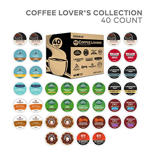 (Keurig Coffee Lovers' Collection Sampler Pack, Single Serve K-Cup Pods, Compatible with all Keurig 1.0/Classic, 2.0 and K-Café Coffee Makers, Variety Pack, 40)