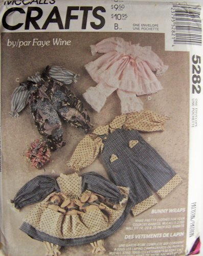 McCall's Crafts Pattern 5282 ~ Bunny Wraps Bunny Rabbit Wardrobe Package by Faye (Rabbit Doll Pattern)