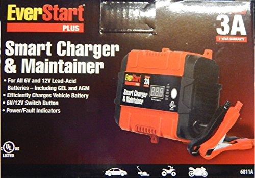 everstart  smart charger maintainer  amps    car battery automotive parts