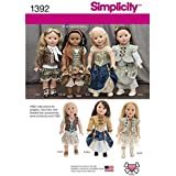 Simplicity Creative Patterns 1392 Steampunk Costume for 18-Inch Doll