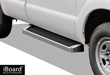 Nerf Bars Side Steps Step Bars APS iBoard Running Boards Black Powder Coated 5 inches Compatible with 1999-2014 Ford Econoline Full Size Van